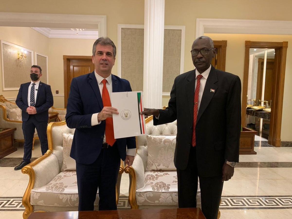 Phái đoàn cấp cao của Israel thăm Sudan thúc đẩy hòa bình. Ảnh: Skynewsarabia