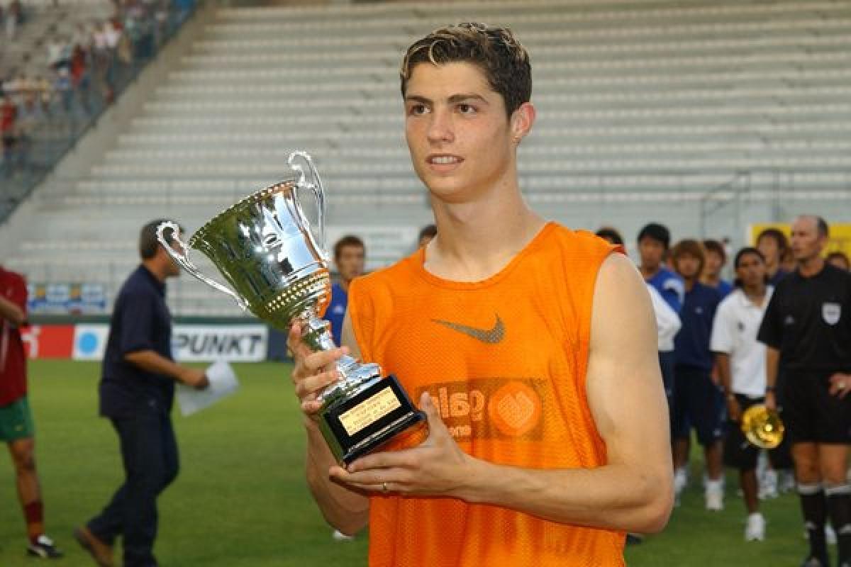 Cristiano Ronaldo thời mới khởi nghiệp. (Ảnh: Getty)