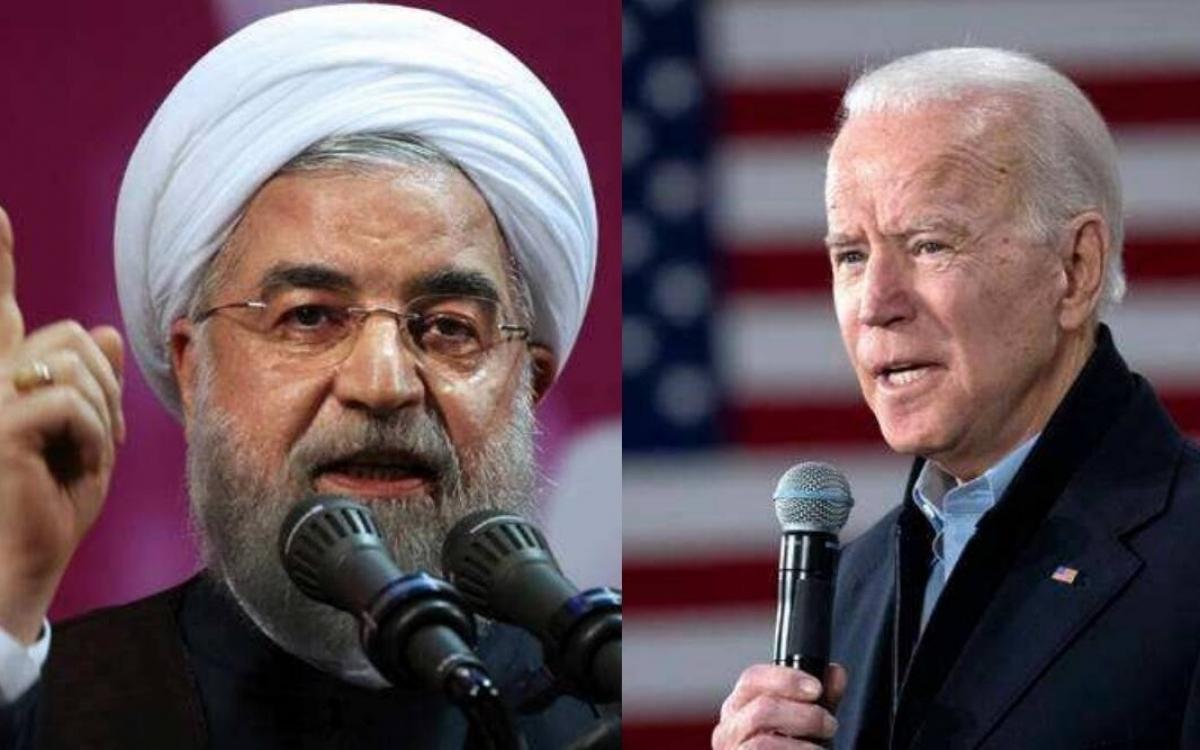 Tổng thống Rouhani và tân Tổng thống Mỹ Biden. Ảnh: Indian Express.