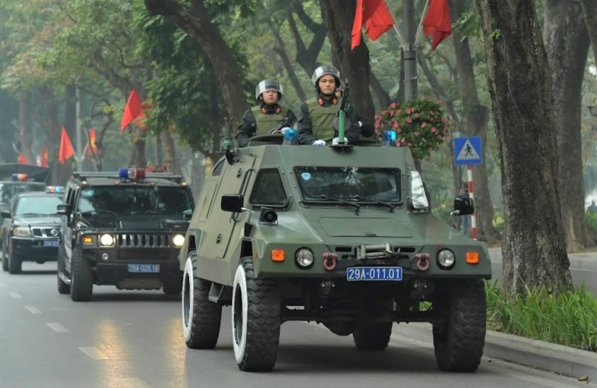 Specialised vehicles will be deployed to protect the country's most important political event. (Photo: VOV.VN)