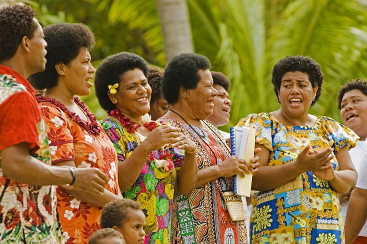 Người dân Fiji thường chào đón khách bằng những bài hát. Nguồn: Paul Harris