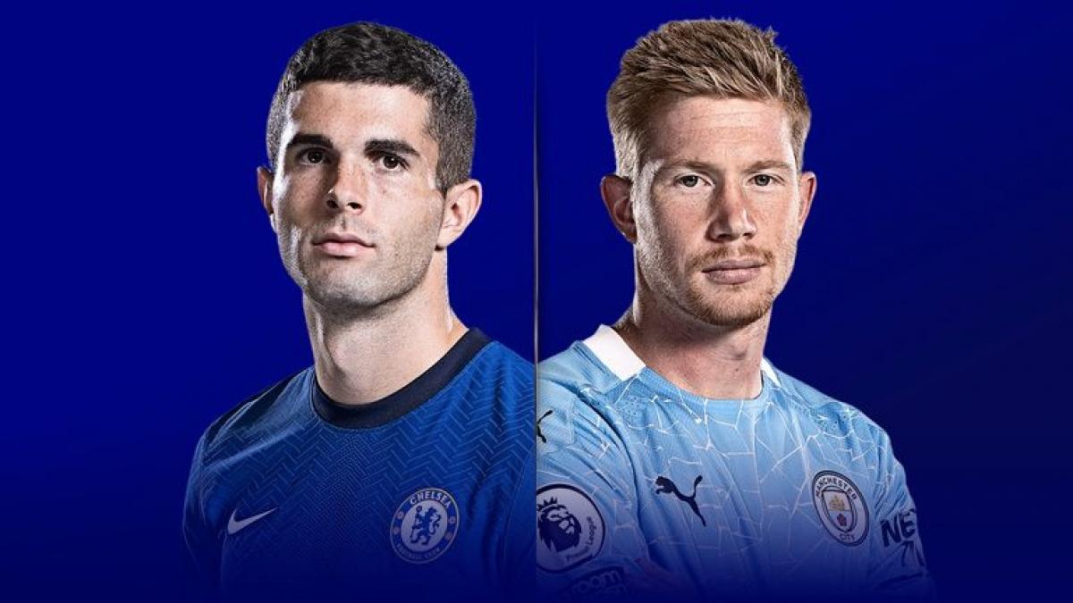 Trận đấu giữa Chelsea và Man City sẽ là tâm điểm của bóng đá thế giới hôm nay. (Ảnh: Sky).