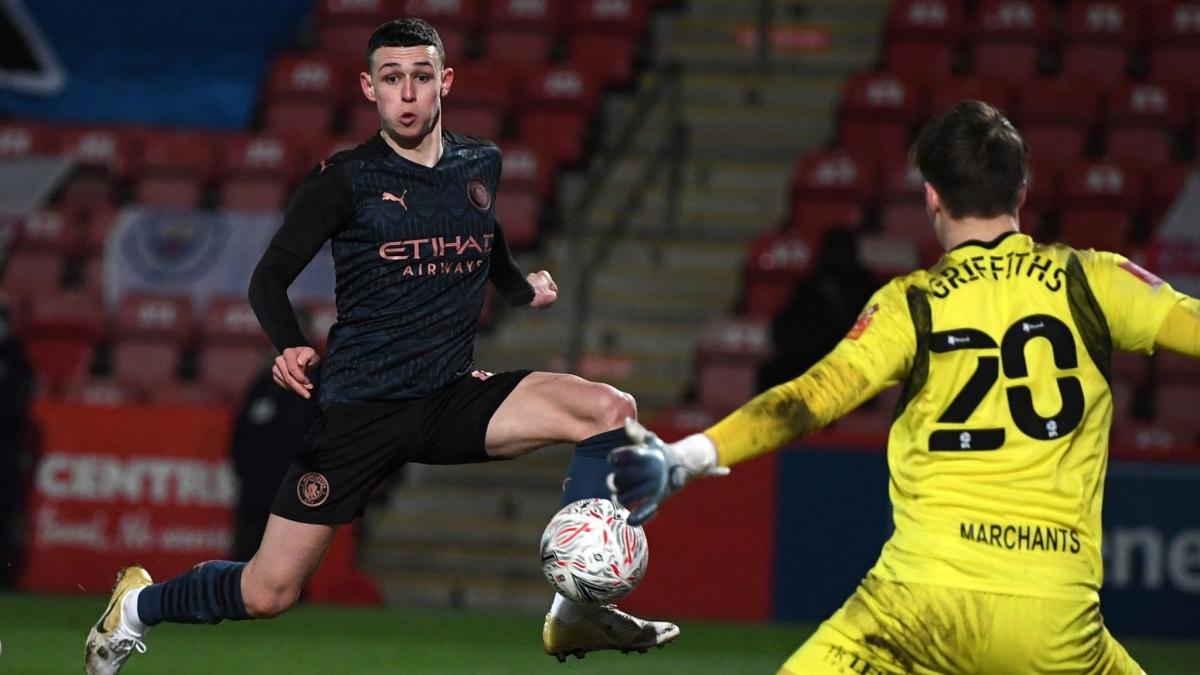Sao trẻ Foden tiếp tục phong độ cao giúp Man City có chiến thắng ở FA Cup. (Ảnh::Getty).