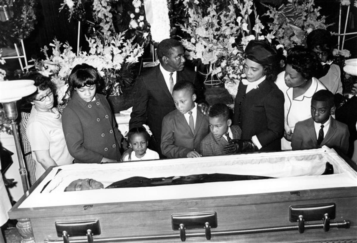 Lễ tang của mục sưMartin Luther King Jr. ở Atlanta ngày 7/4/1968. Ảnh: AP