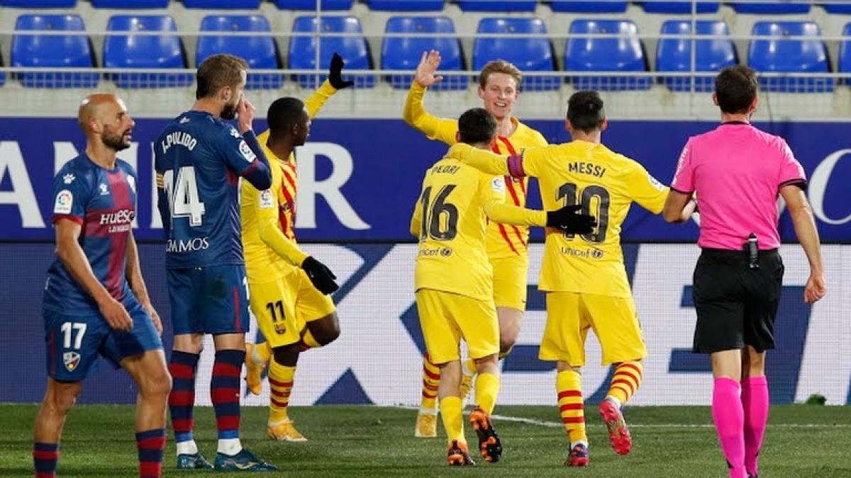 Barca giành chiến thắng tối thiểu trước SD Huesca (Ảnh: Reuters).