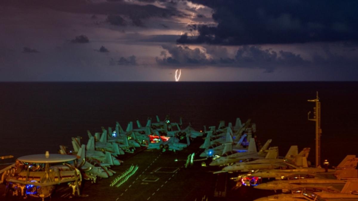 Tàu sân bay USS Nimitz của hải quân Mỹ. Ảnh: Reuters