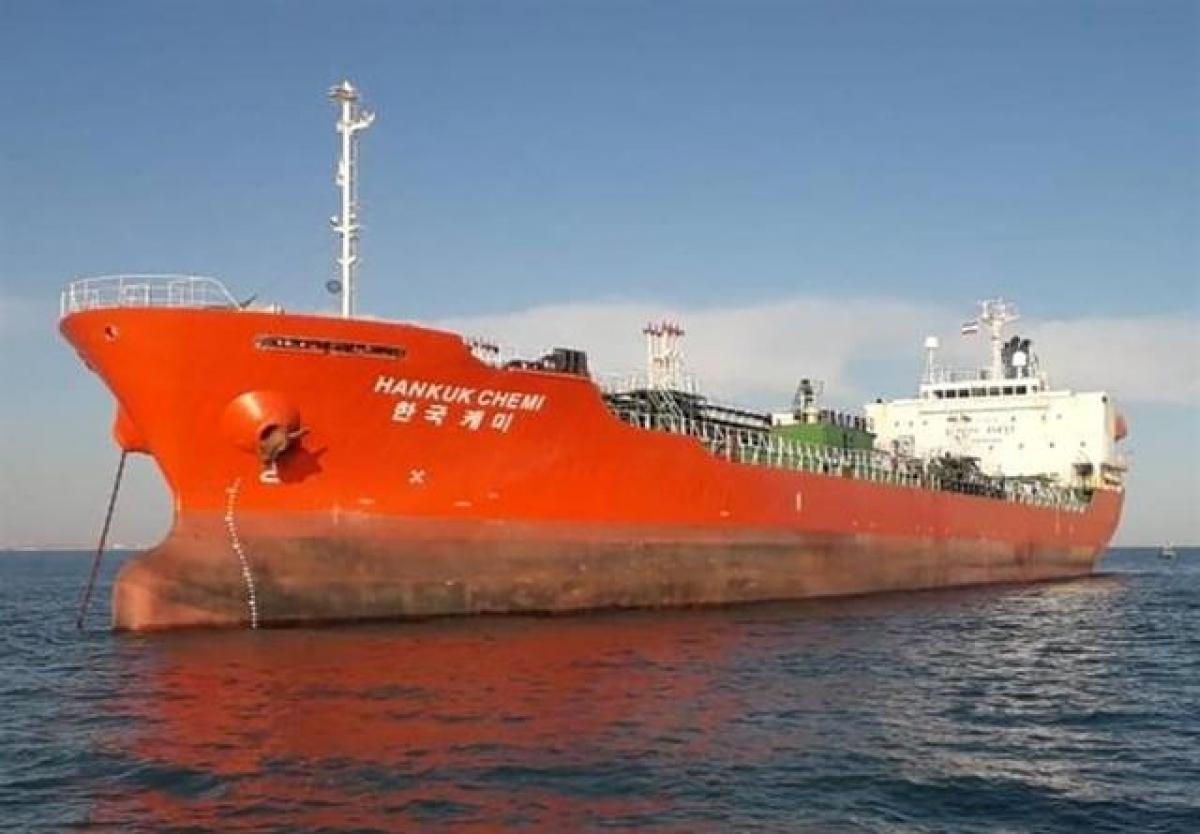 Tàu chở hóa chất Hankuk Chemi của Hàn Quốc. (Ảnh: Reuters)