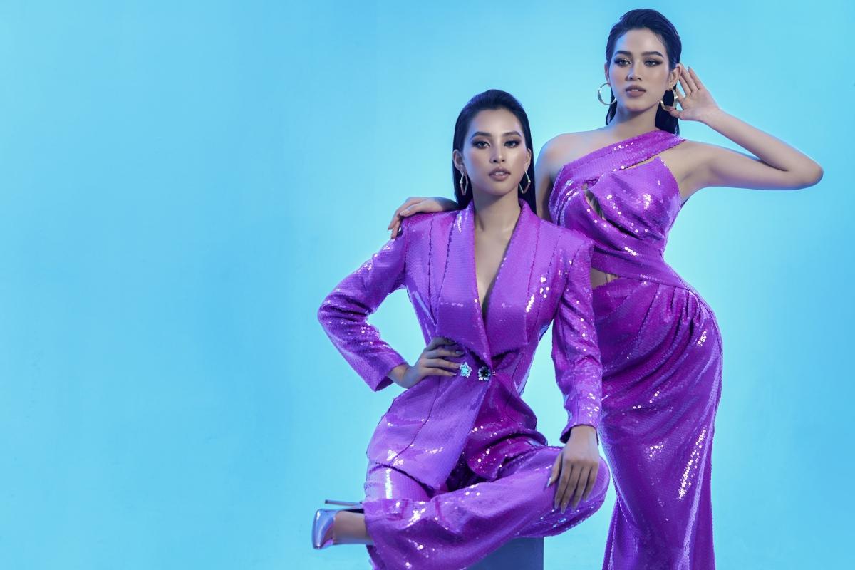 Những thiết kế của Nguyễn Minh Tuấn đã tận dụng bắt mắt hệ màu tím thời trang được các nhà mốt lăng xê trong thời trang qua.