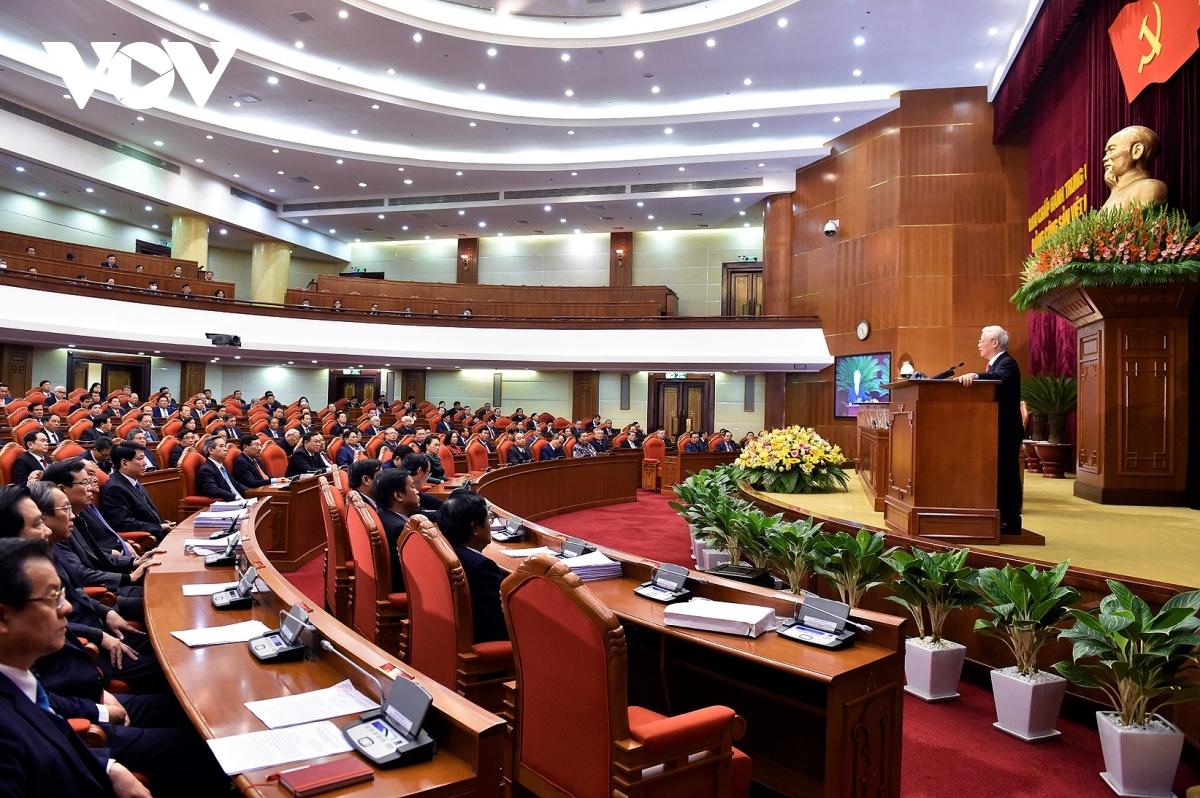 Tổng Bí thư, Chủ tịch nước Nguyễn Phú Trọng phát biểu chỉ đạo tại Hội nghị Trung ương 14