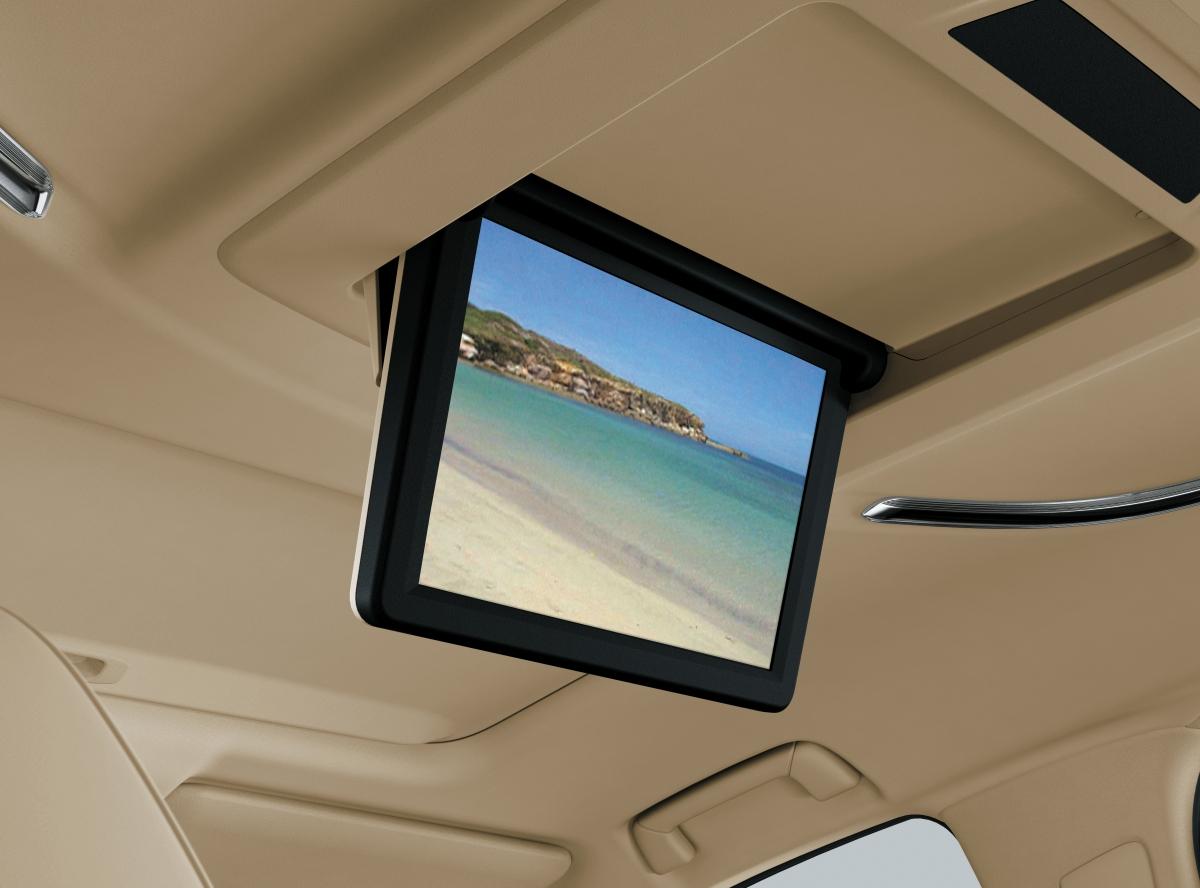 Xe được trang bị haimàn hình giải trí: Phía trước mở rộng từ 8 inch đến 10,5 inch, hàng ghế sau tăng từ 9 inch lên 13,3 inch.