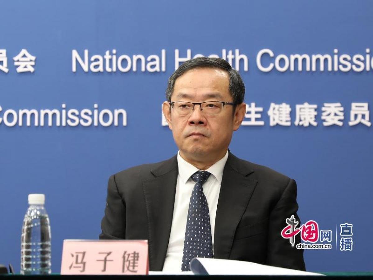 Ông Phùng Tử Kiện, Phó Chủ nhiệm CDC Trung Quốc. Nguồn: Mạng TQ