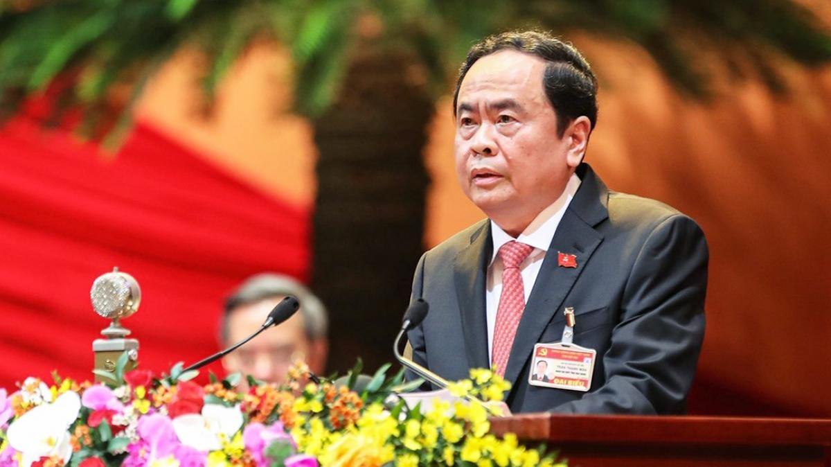 Ông Trần Thanh Mẫn,Bí thư Trung ương Đảng, Chủ tịch Ủy ban Trung ương MTTQ Việt Nam.