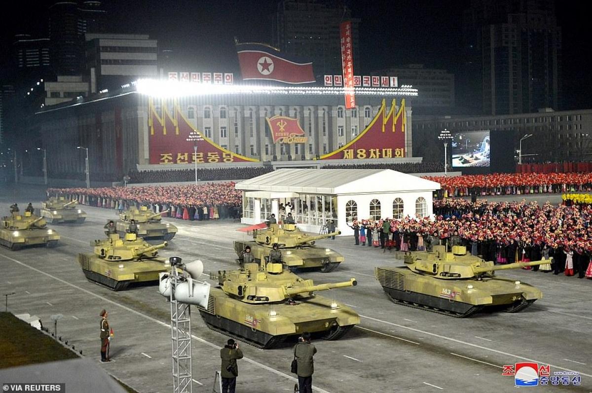 Loại xe tăng khá hiện đại của Triều Tiên.