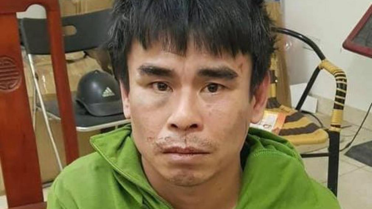 Đối tượng Tăng Xuân Trung tại cơ quan điều tra