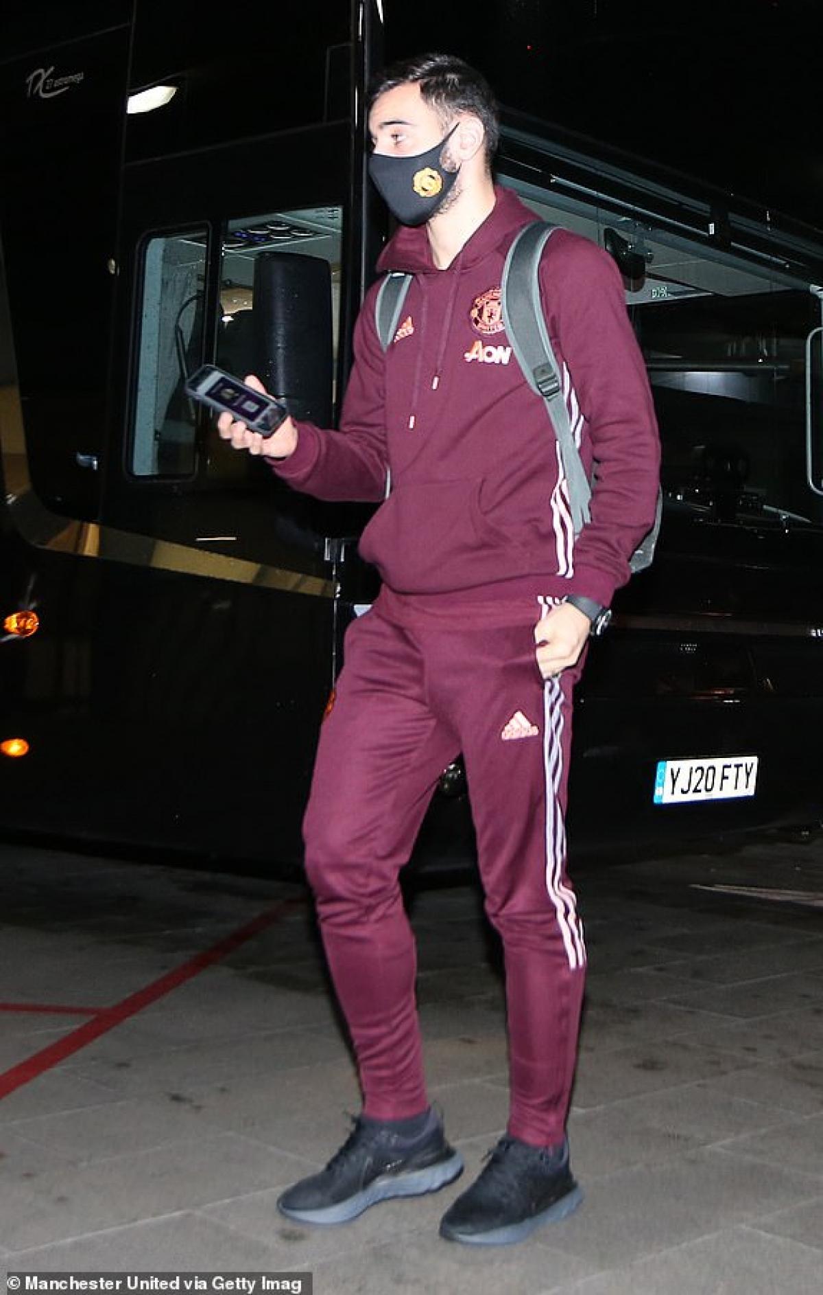 Bruno có mặt ở Emirates. (Ảnh: Getty).