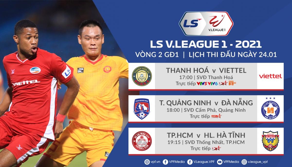 Lịch thi đấu 3 trận đấu muộn nhất vòng 2 v-League 2021.