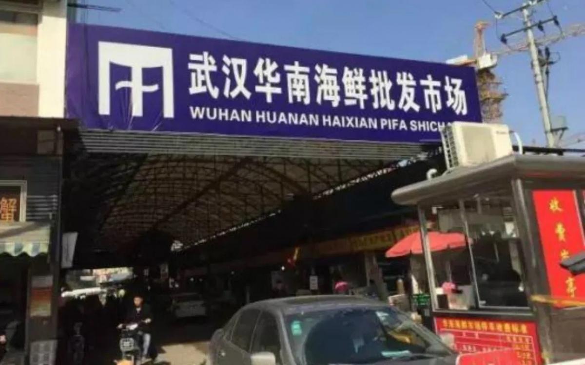 Chợ hải sản Hoa Nam tại Vũ Hán, Trung Quốc. Ảnh: Weibo.