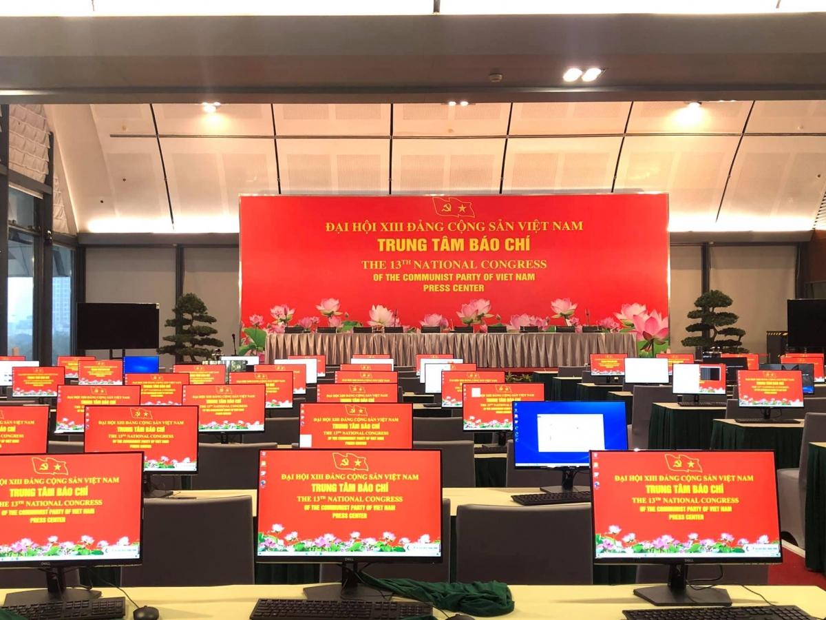 Trung tâm báo chí phục vụ Đại hội XIII của Đảng.
