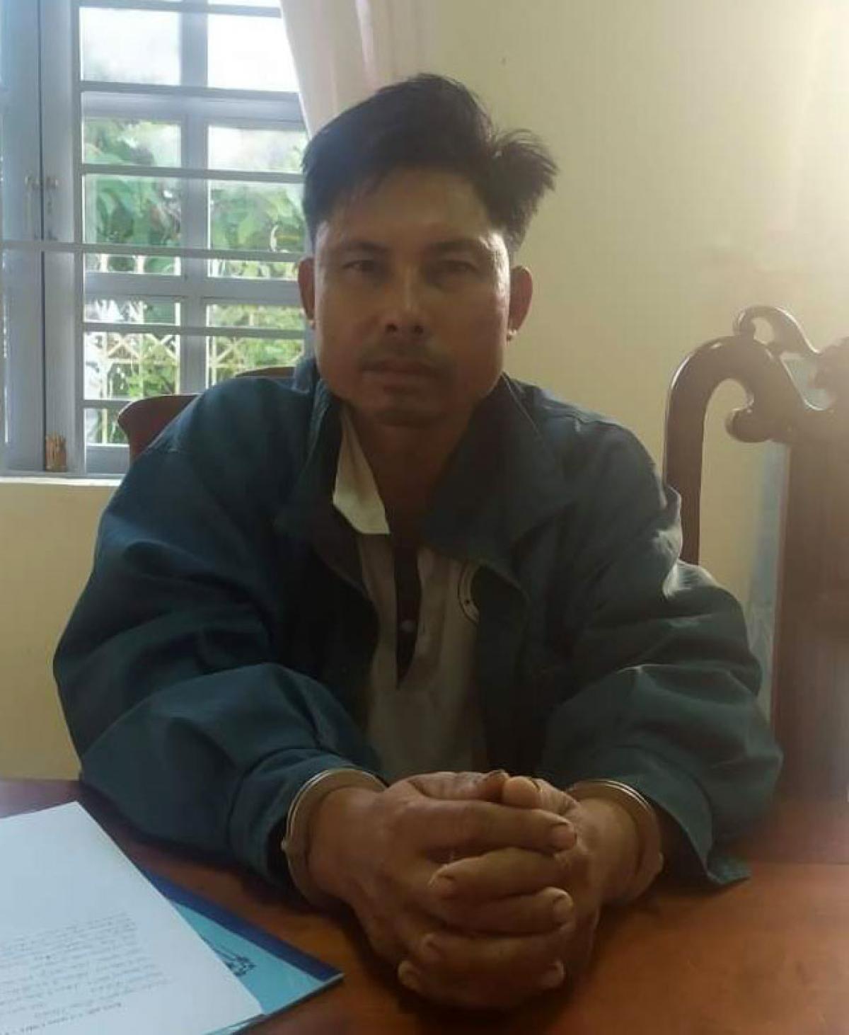 Đối tượng Nguyễn Trọng Hoàng tại cơ quan Công an huyện Đam Rông.