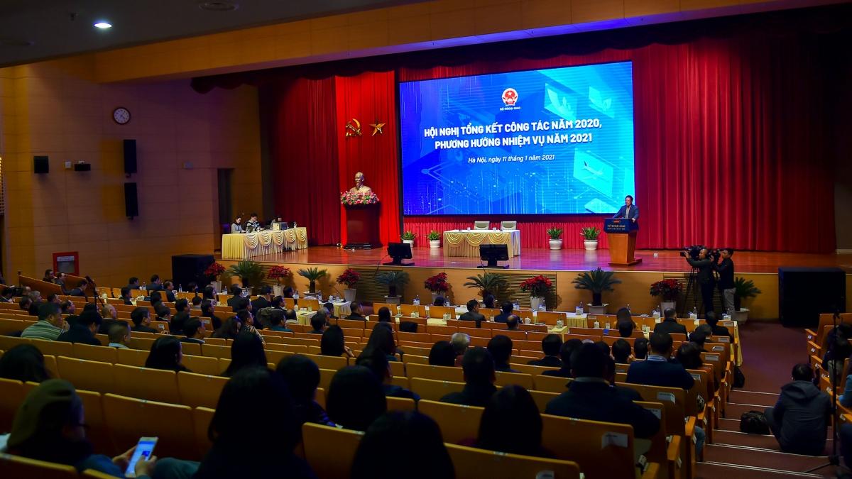 Hội nghị Tổng kết công tác năm 2020, phương hướng nhiệm vụ năm 2021 của Bộ Ngoại giao.