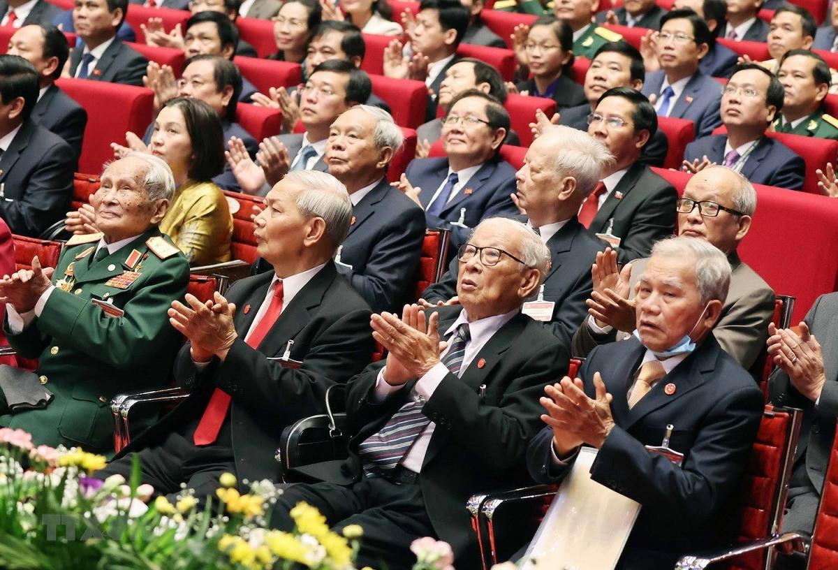 Các đại biểu dự Đại hội Đảng lần thứ XIII. Đại hội lần này quy tụ 1.587 đại biểu, đại diện cho hơn 5,1 triệu đảng viên trên cả nước.(Ảnh: TTXVN)