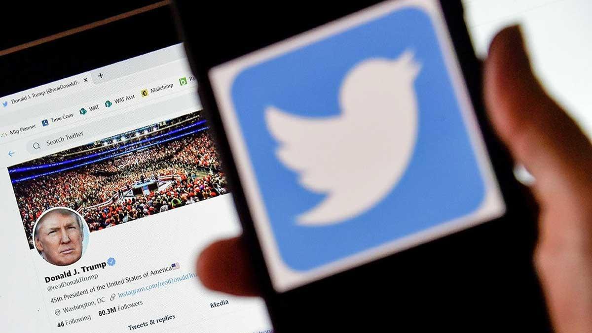 Tổng thống Mỹ Donald Trump đang dấy lên một cuộc chiến với Twitter và các mạng xã hội. Ảnh minh họa: The Dispatch.