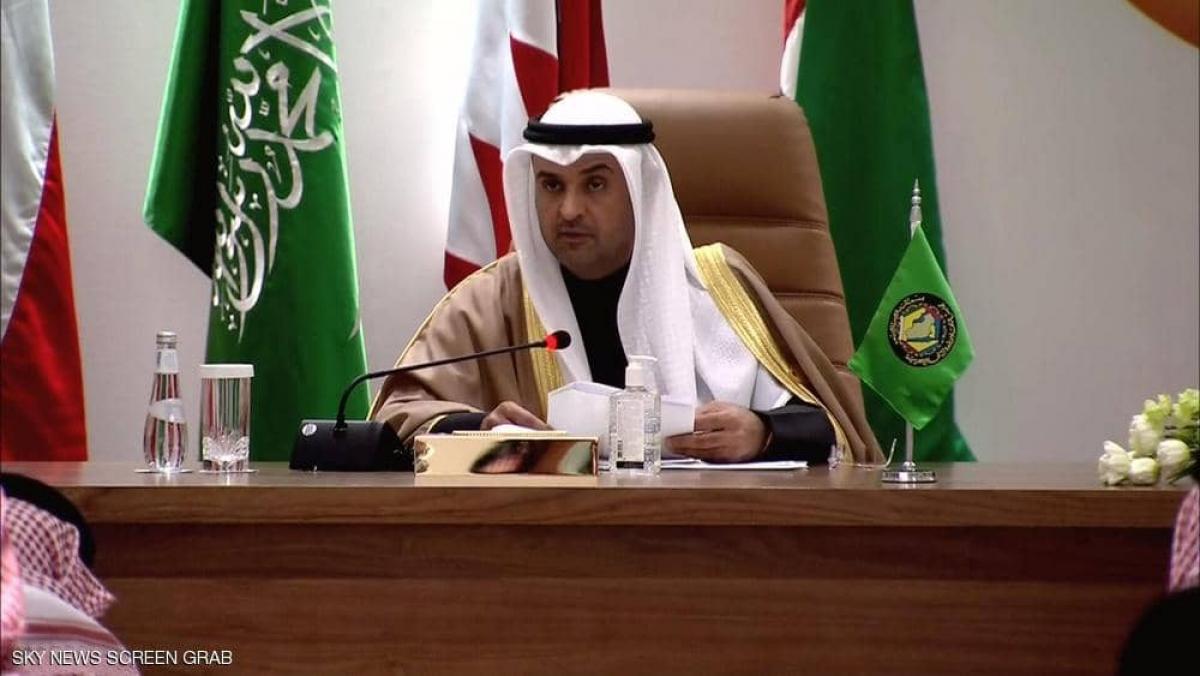 Tổng thư ký Hội đồng Hợp tác vùng Vịnh đọc tuyên bố cuối cùng của hội nghị lần thứ 41 tại Al Ula Saudi Arabia - Ảnh Skynewsarabia.