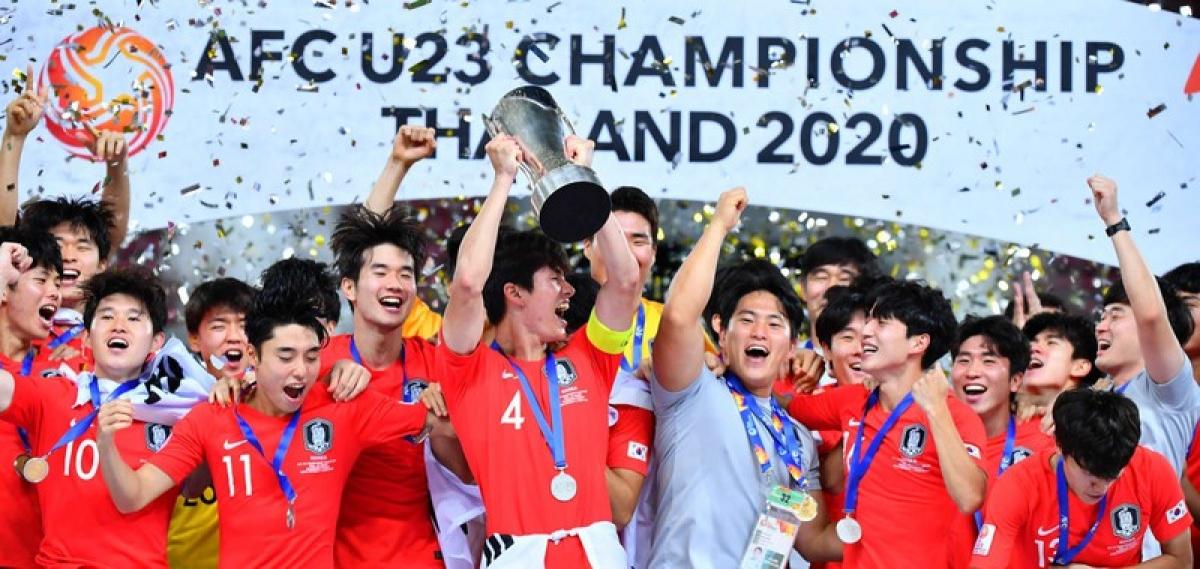 Ngày này 1 năm trước, U23 Hàn Quốc đã đăng quang chức vô địch giải U23 châu Á 2020, giải đấu cấp đội tuyển gần nhất ở châu Á được hoàn tất. (Ảnh: AFC).