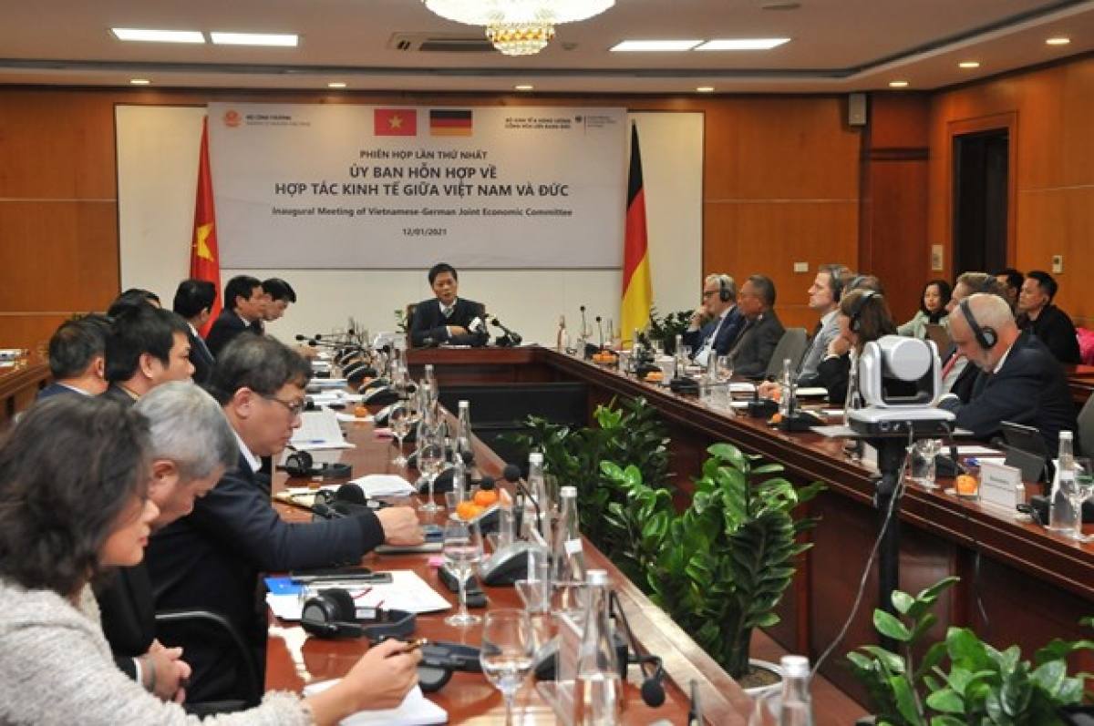 A view of the first meeting of theVietnam-Germany Joint Committee for Economic Cooperation(Photo: moit.gov.vn)