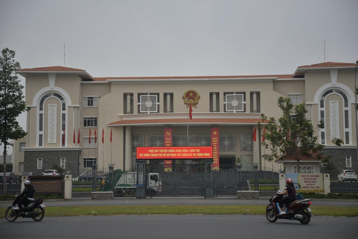 Hoạt động tại trụ sở UBND TP Thủ Đức (UBND quận 2 cũ) diễn ra bình thường