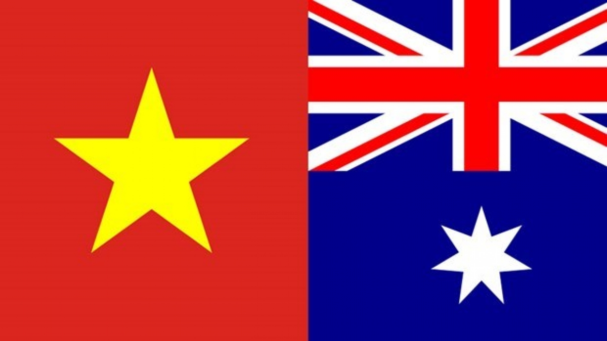National flags of Vietnam and Australia (Source: Vietnam-briefing.com)