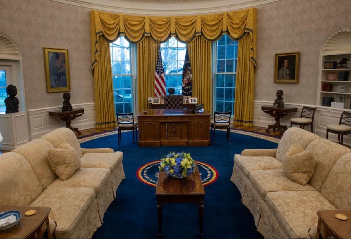 Rèm cửa và thảm đều được thay đổi. Ảnh: Washington Post.