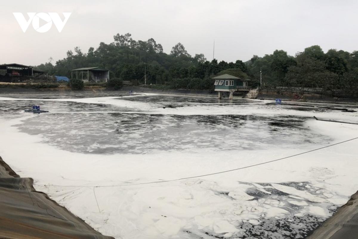 Khu vực thí điểm xử lý mùi bên trong khu xử lý chất thải Nam Sơn.