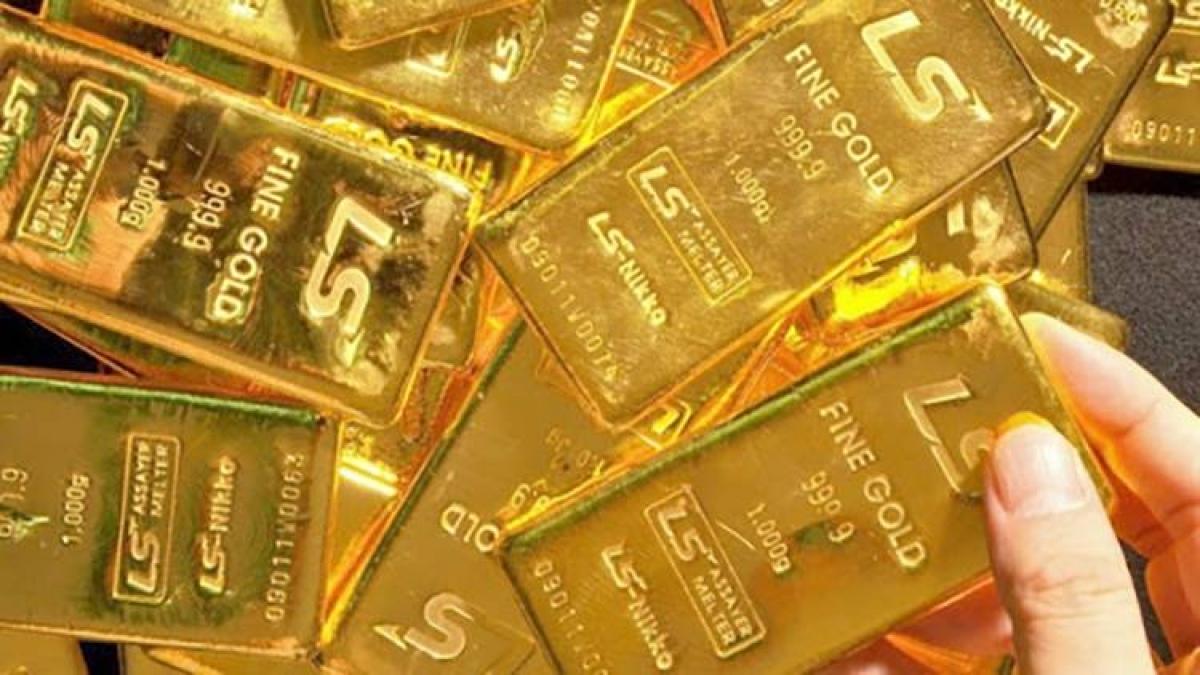 """Giá vàng trong nước tăng nhẹ, """"ngược chiều"""" với giá vàng thế giới. (Ảnh minh họa: KT)"""