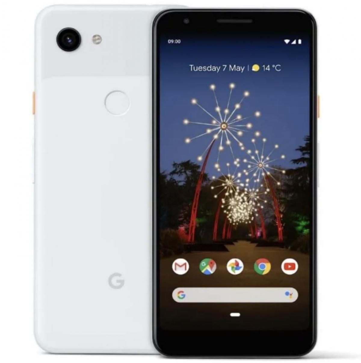Dòng sản phẩm tầm trung của Google, Google Pixel 3a, đang có mức giá hấp dẫn trong đợt khuyến mại. Điện thoại được chú trọng về chất lượng ảnh chụp, màn hình OLED 5,6 inch với độ nét mẫu mực và tuổi thọ pin trong vòng hai ngày nhờ pin 3.000 mAh.