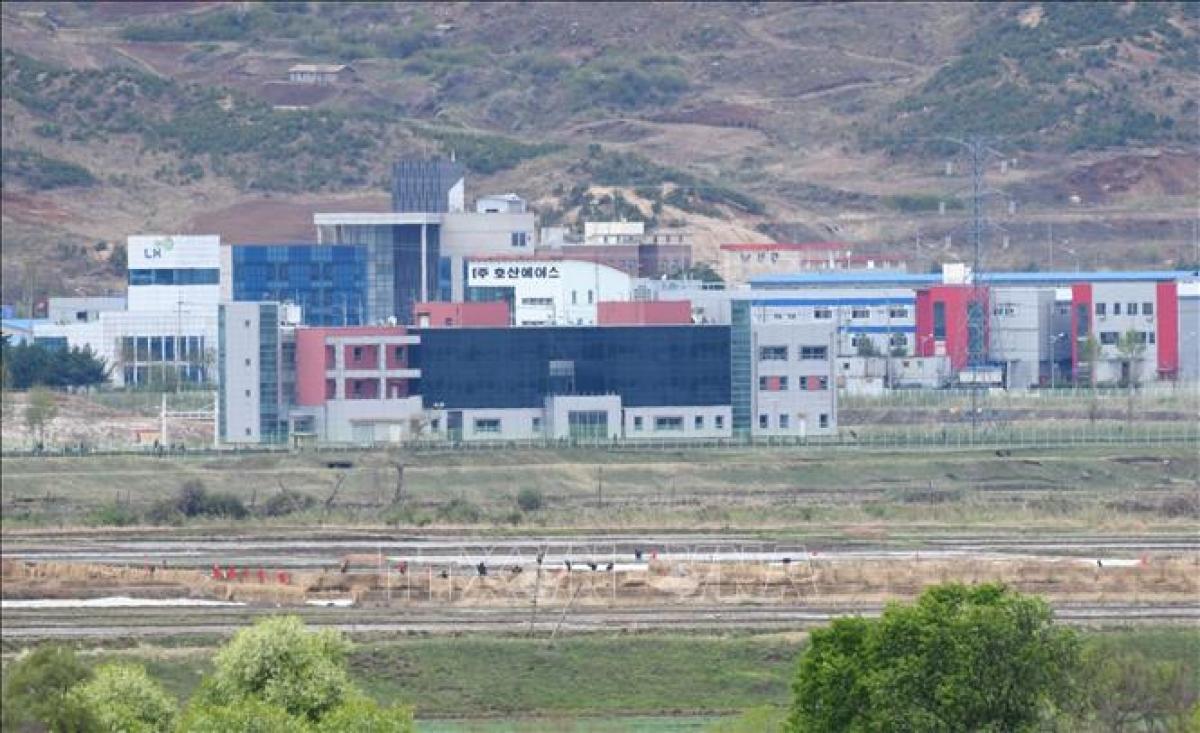 Khu công nghiệp liên Triều Kaesong. Ảnh: AFP/TTXVN