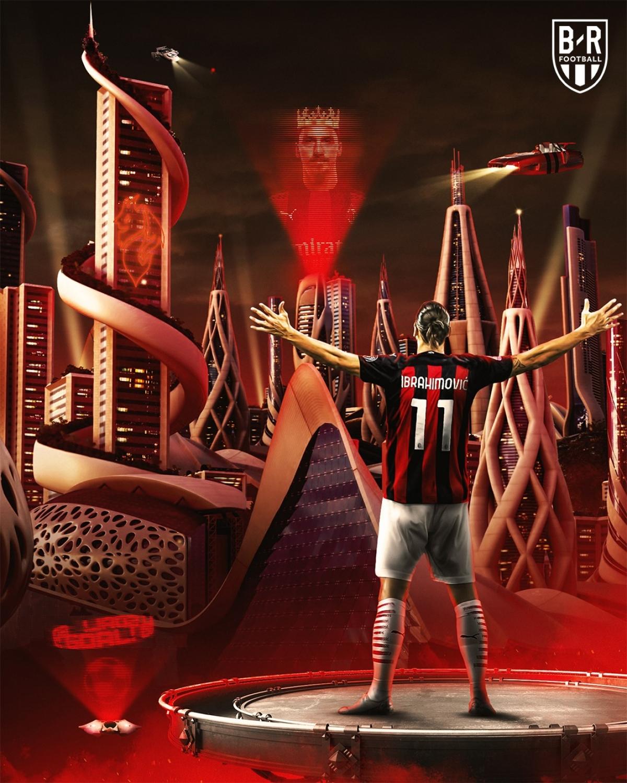 Zlatan Ibrahimovic chuẩn bị gia hạn hợp đồng với AC Milan. (Ảnh: Bleacher Reports)