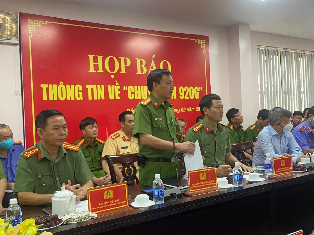 Công an tỉnh Đồng Nai họp báo thông tin về việc