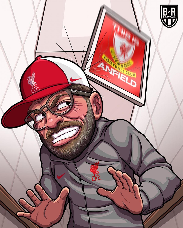 Liverpool thua 4 trận liên tiếp trên sân nhà Anfield. (Ảnh: Bleacher Reports)