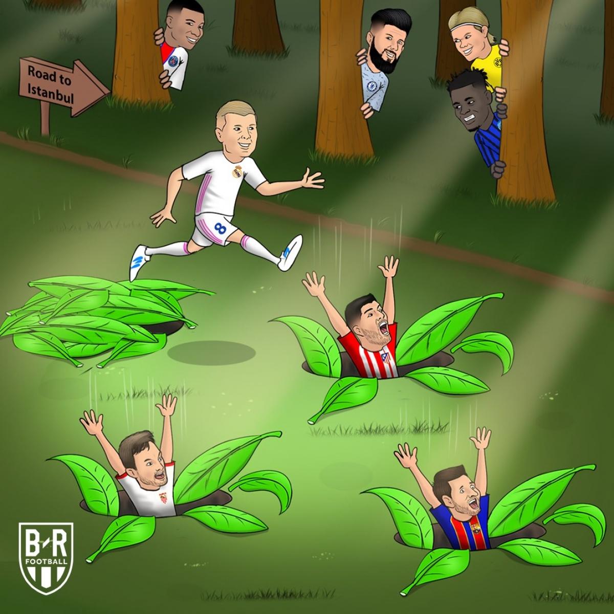 Real Madrid gỡ gạc thể diện cho bóng đá Tây Ban Nha. (Ảnh: Bleacher Reports)