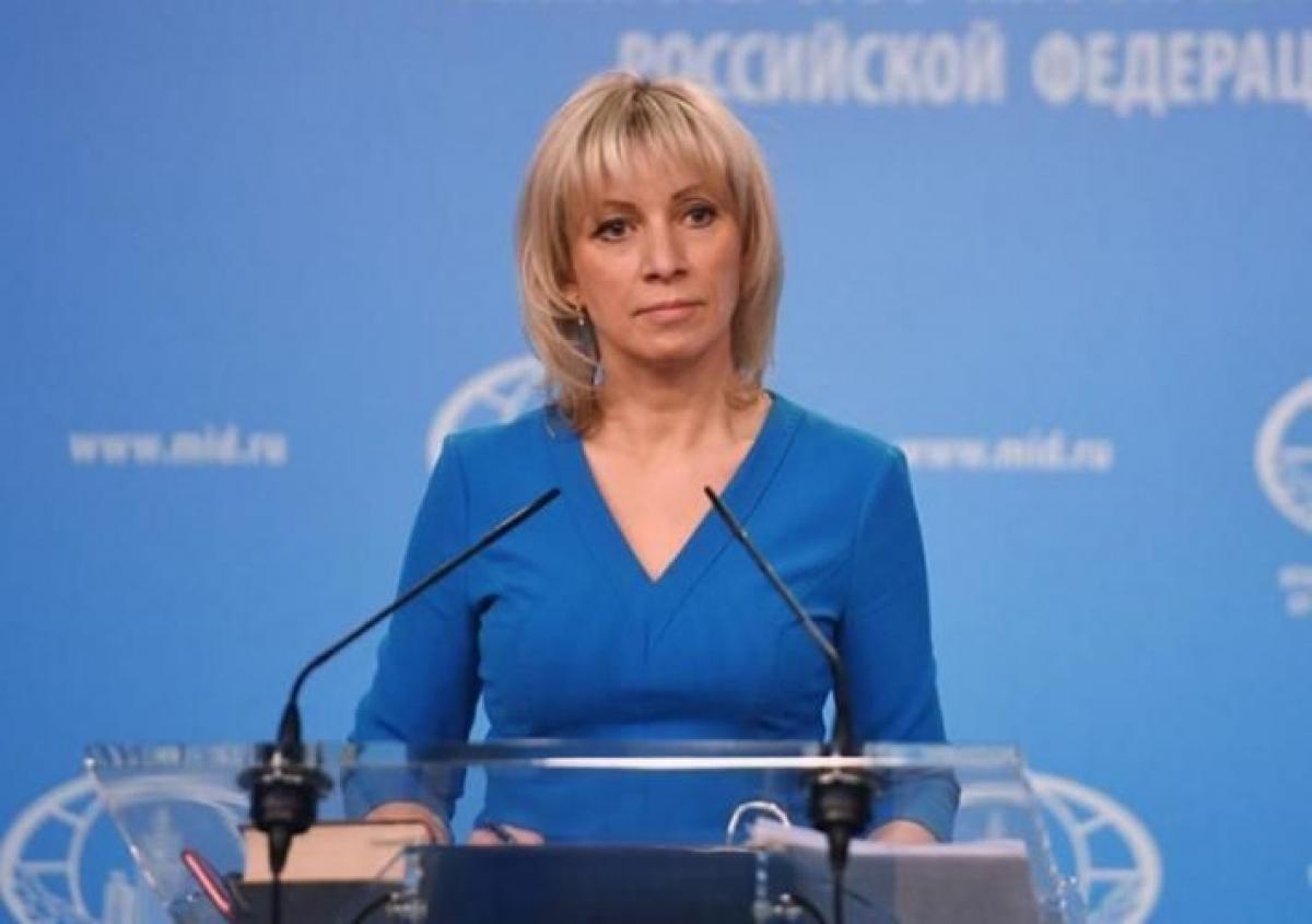 Người phát ngôn Bộ Ngoại giao Nga Maria Zakharova. Ảnh: APA.