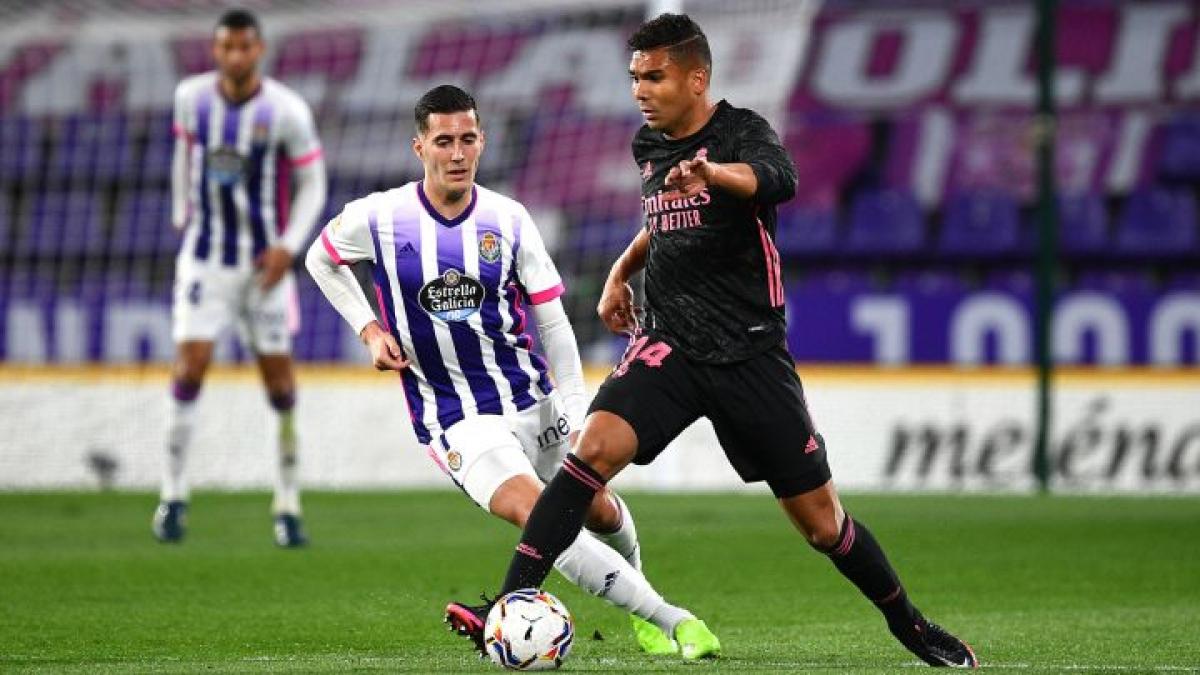 Bàn thắng duy nhất của Casemiro giúp Real thắng nhọc Valladolid 1-0. (Ảnh: Getty).