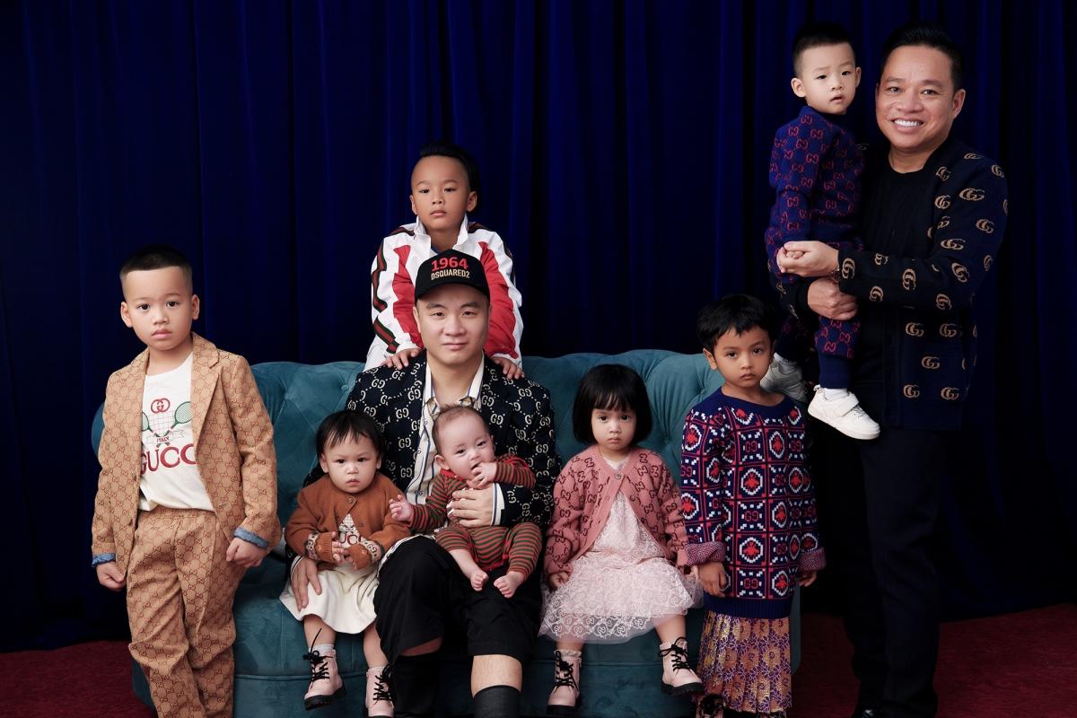 NTK Đỗ Mạnh Cường quan tâm, chăm chút cho chuyện ăn mặc của các con từ khi còn nhỏ.