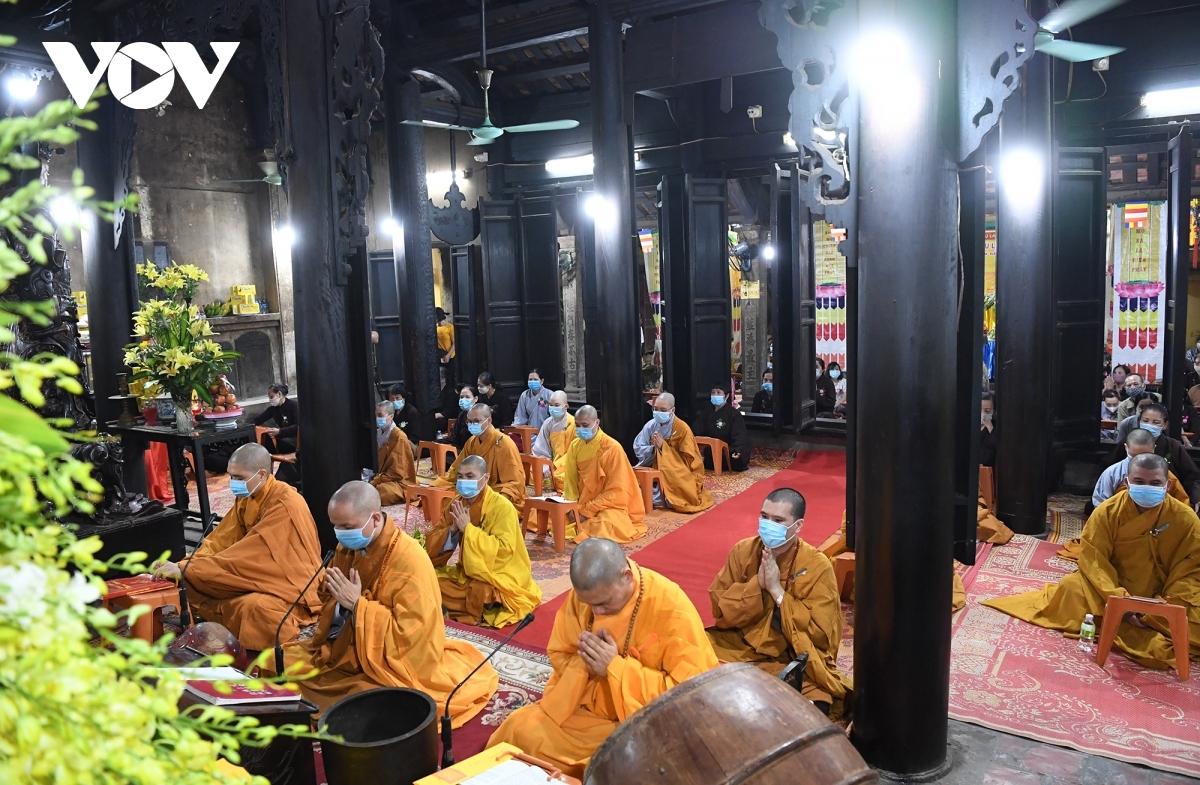 Một khóa lễ trong năm 2020 tại chùa Phúc Khánh (Hà Nội).