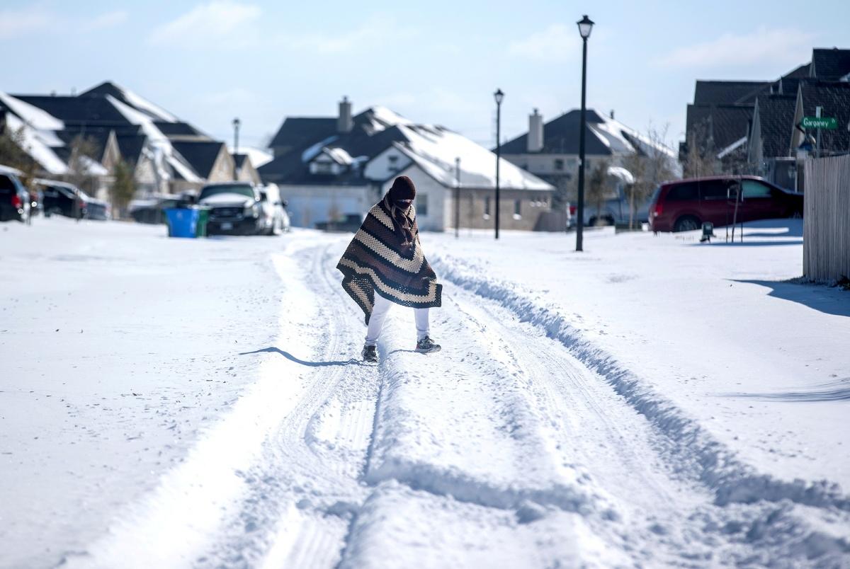 Tuyết rơi dày tại Pflugerville, Texas. Nguồn: Reuters