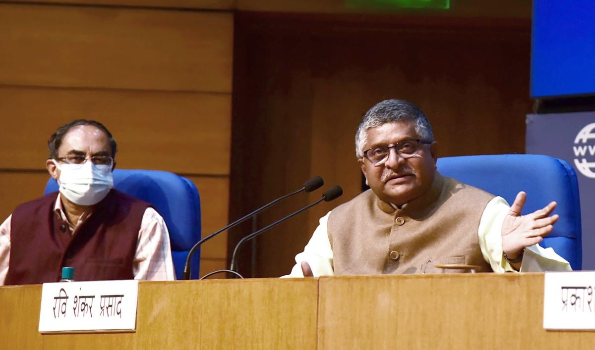 Bộ trưởng phụ trách Điện tử, CNTT và Truyền thông Ấn Độ Ravi Shankar Prasad (Ảnh: ANI)