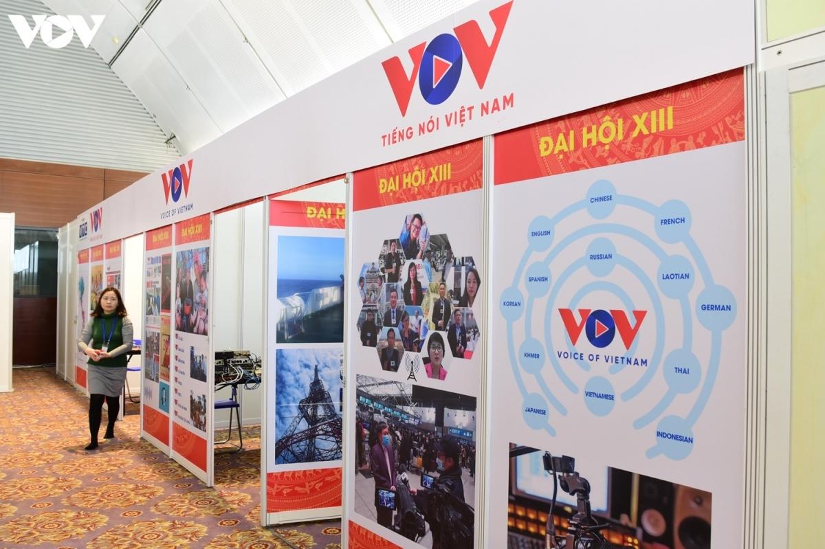 Khu làm việc phục vụ Đại hội Đảng XIII của VOV hoàn thành sớm và ấn tượng