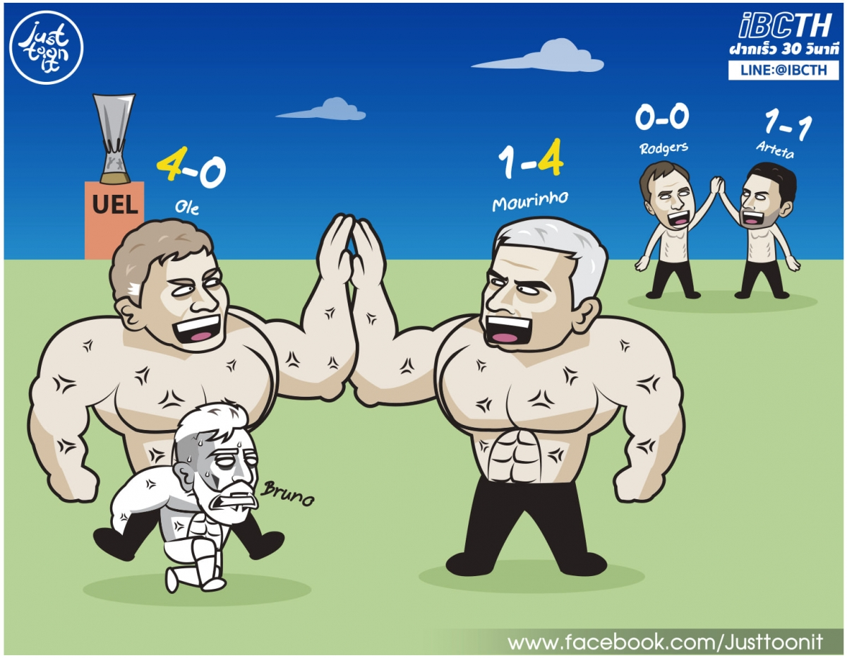 HLVOle Gunnar Solskjaer và Mourinho khoe cơ bắp cuồn cuộn.