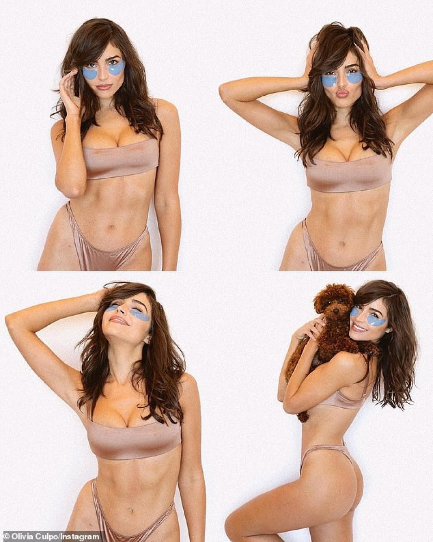 """Trong ảnh, nàng hậu sinh năm 1992 diện thiết kế màu nude, phô body săn chắc nóng bỏng, đường cong thể hình siêu gợi cảm """"thiêu đốt"""" ánh nhìn."""