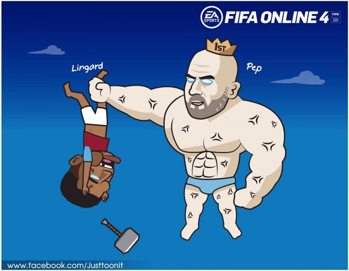 "HLV Pep Guardiola ""trừng trị"" Lingard."